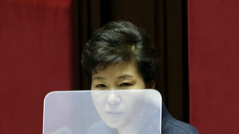South Korean President Park  is accused of having allowed close friend Choi Soon-sil to meddle in state affairs [Geun-hye Kim Hong-Ji/Reuters]