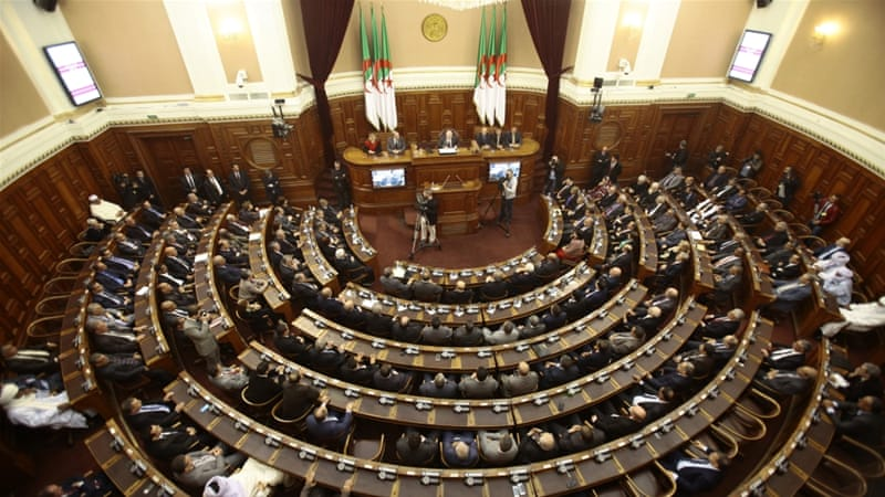 A general view of the upper parliament chamber is pictured in Algiers, Algeria [REUTERS]