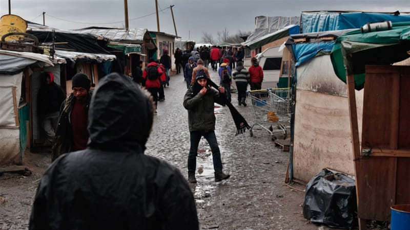 Refugees in the Calais camp have repeatedly faced threats and attacks [Etienne Laurent/EPA]