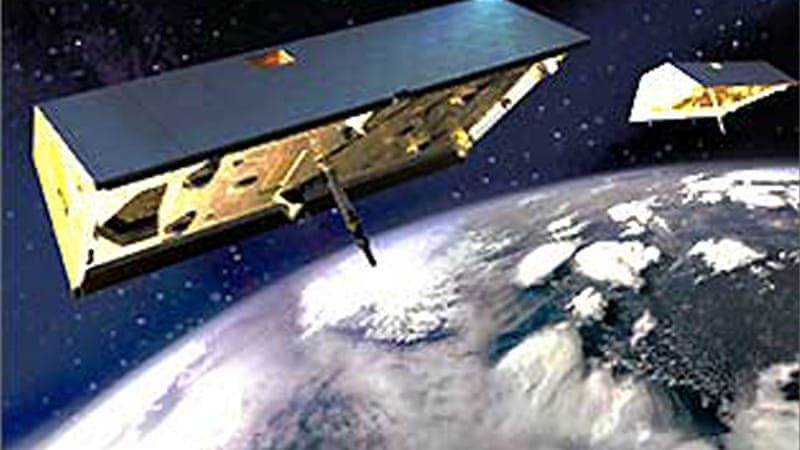 The Gravity Recovery And Climate Experiment (GRACE) twin satellites [NASA]