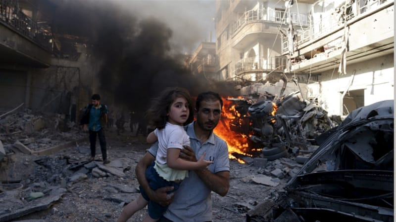 According to the United Nations, more than 250,000 people have been killed in Syria since 2011 [Bassam Khabieh/Reuters]