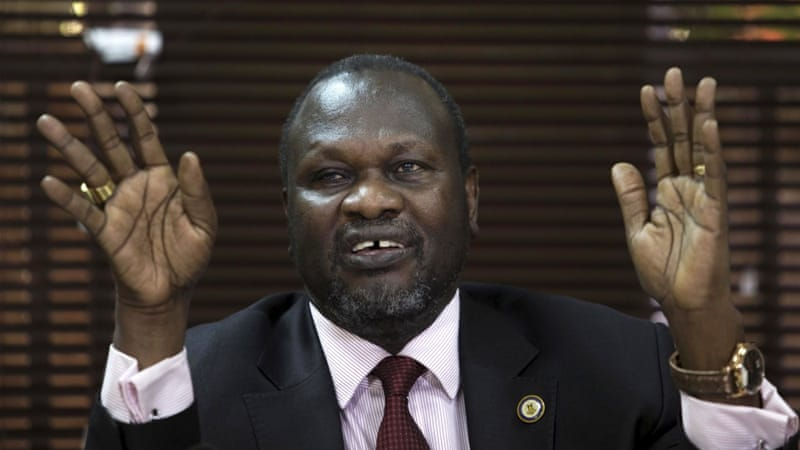 Machar says he will not agree to a new government unless Kiir withdraws plan to create new states [Edward Echwalu/Reuters]