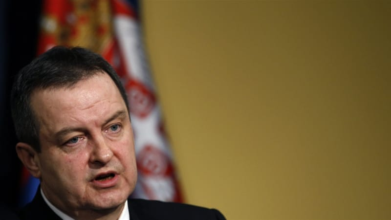 Dacic said Serbia was negotiating the release of its embassy staff before Friday's attack [Darko Vojinovic/AP]