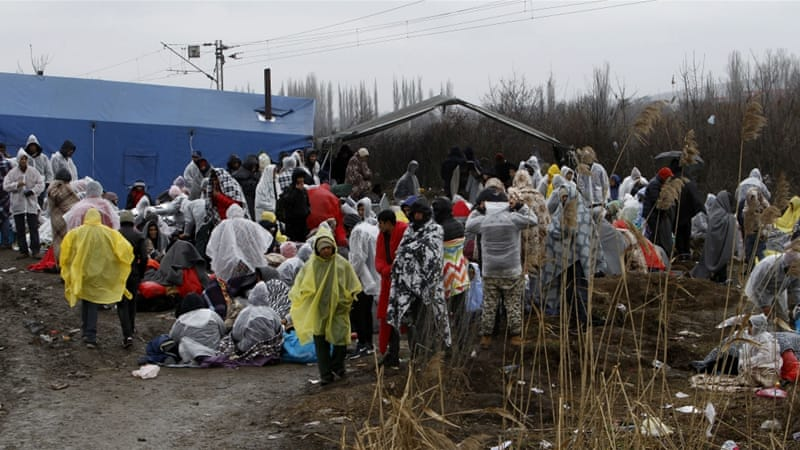 Afghan refugees have been blocked from entering Serbia from Macedonia since Friday [Boris Grdanoski/AP]