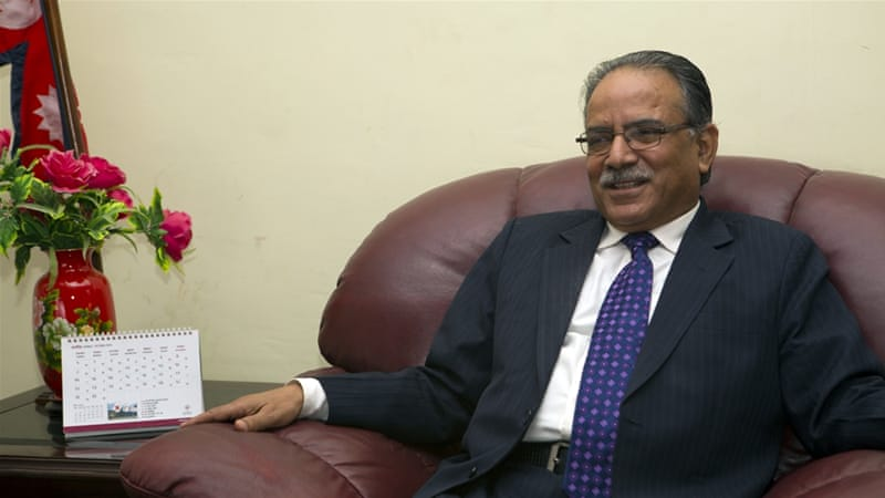 Maoist leader Prachanda said the economy would be Nepal's biggest challenge [Al Jazeera/Prabhat Jha]
