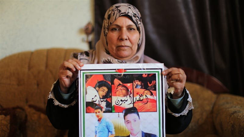 Fayida Zakarna, the mother of a Palestinian teenager who committed an attack against Israeli forces, said her son was not political [Abed al-Qaisi/Al Jazeera]
