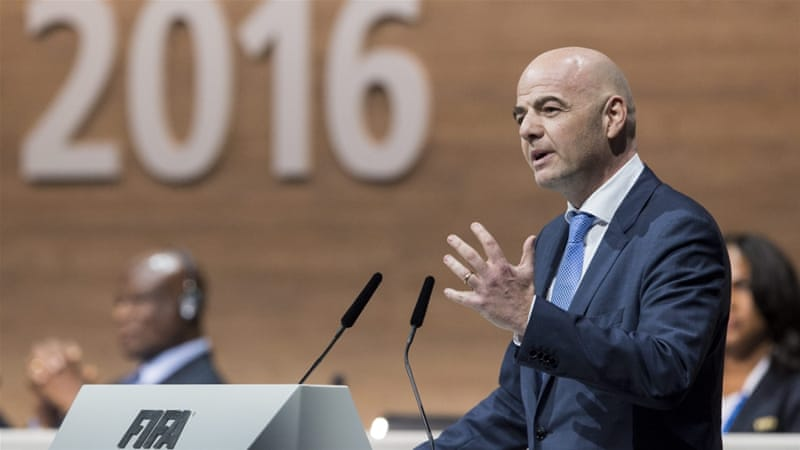 Infantino, who replaced Blatter as FIFA president, launched his candidacy in October [EPA]