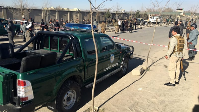 Police said most of the dead in Saturday's attack outside the defence ministry in Kabul were civilians [EPA]