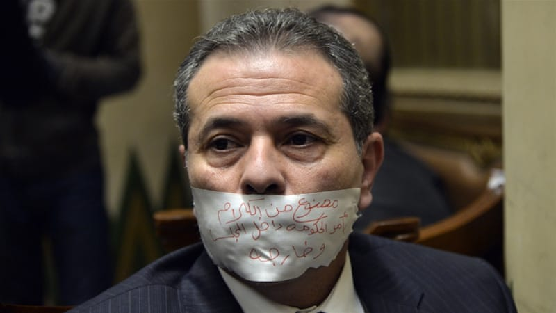 Okasha, an MP and TV host known for courting controversy, has previously staged parliamentary protests [File: Said Shahat/AP]