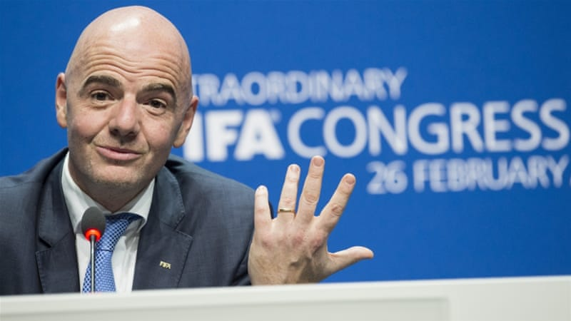 Gianni Infantino, the new FIFA chief, said the money was meant for the development of the game [Ennio Leanza/Keystone via AP]