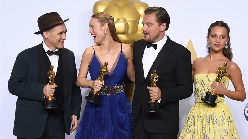 Controversy over racial discrimination overshadowed the Oscars in Hollywood on Sunday [Jordan Strauss/Invision/AP]