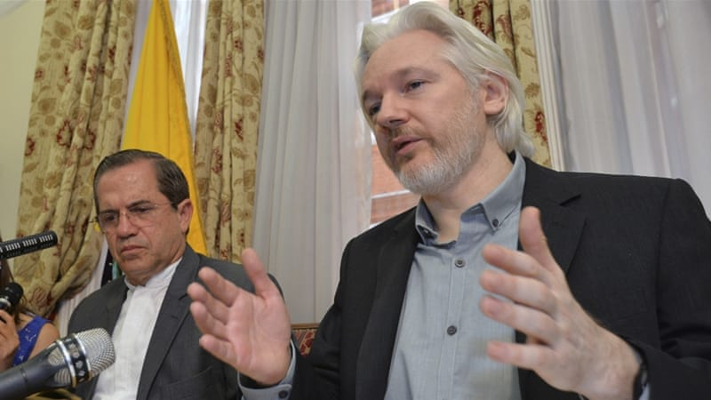 Assange has lived in exile in Ecuador's embassy in the UK for three-and-a-half years pending his case [AP]