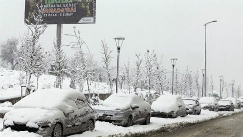 Despite much snow on the ground, all of Turkey's weather stations reported a day temperature above freezing on Saturday [AFP]