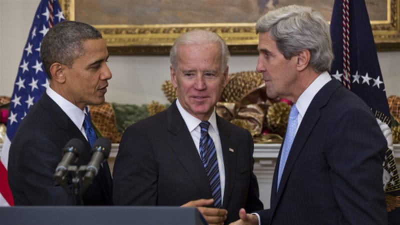 US President Barack Obama with John Kerry and Joe Biden [Getty]