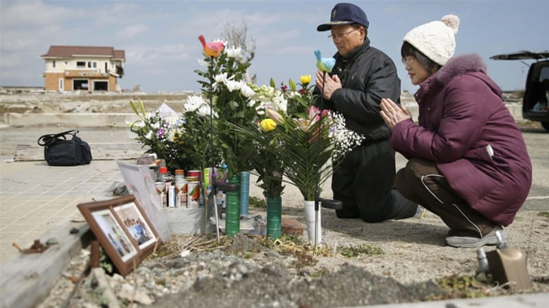 About 100,000 people still can not return to their homes in areas near the Fukushima nuclear plant [AP]