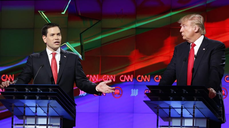 In contrast to previous debates the candidates largely managed to present their arguments without vitriol [Wilfredo Lee/AP]