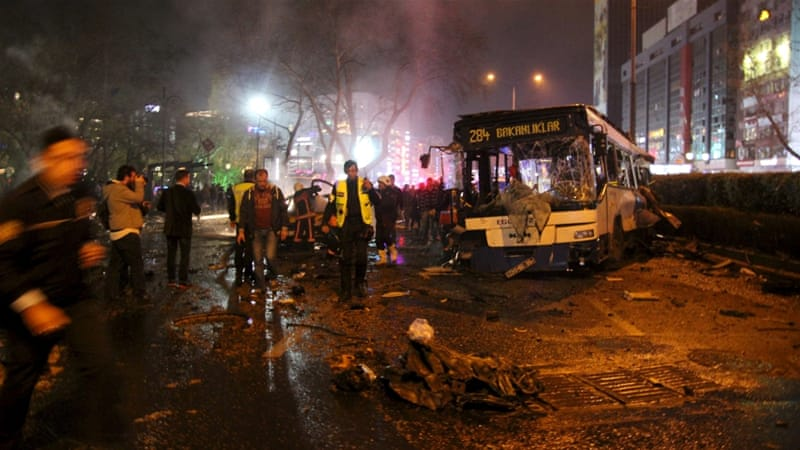 Sunday's blast in Ankara occurred two days after US embassy issued a warning of a possible attack [Tumay Berkin/Reuters]