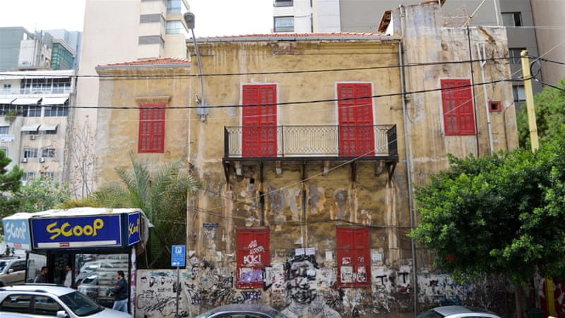 The Red House is one of the last traditional villas in Hamra, but its existence has come under threat in recent months [India Stoughton/Al Jazeera]