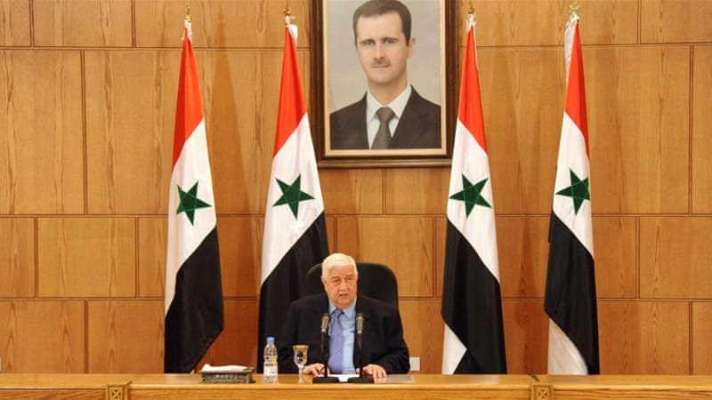 Syrian Foreign Minister Walid al-Muallem said any attempt to discuss presidential elections in Geneva will be rejected [SANA via AP]