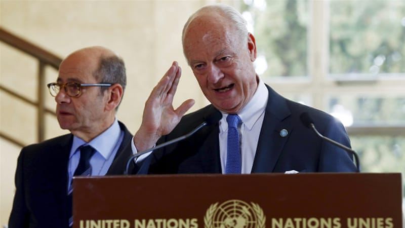 "The UN special envoy for Syria says the resumption of talks is a ""moment of truth"" for Syria [Reuters]"