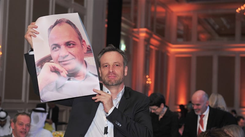Zeidabadi [photo] was honoured in absentia as IPI's 68th World Press Freedom Hero [Al Jazeera]