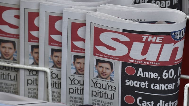 The story published by The Sun generated more than 3,000 complaints to the Independent Press Standards Organisation [Reuters]