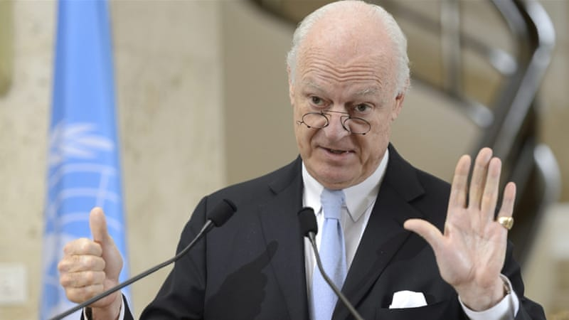 Despite sporadic attacks, the UN special envoy to Syria said progress has been made with talks set to resume on March 9 [EPA]