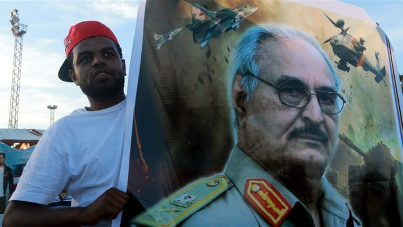 General Haftar was a former CIA asset, and has since become a proxy of Abdel Fattah el-Sisi, who backed his coup, writes Seymour [Reuters]