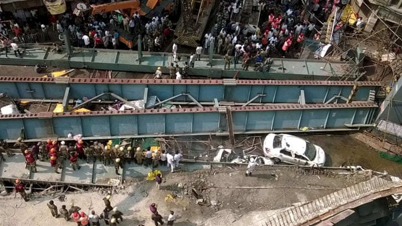 Bridge collapse in Kolkata