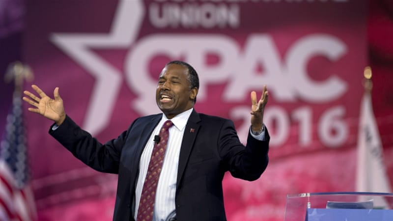 Carson failed to win any of the early states in the race for the November election [Carolyn Kaster/AP]