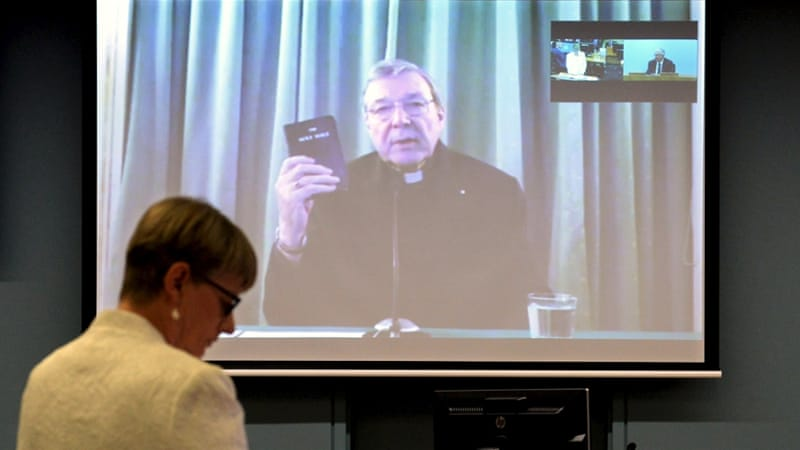 Cardinal George Pell told an inquiry the Catholic Church made 'enormous mistakes' [Jeremy Piper-Oculi/Handout via Reuters]
