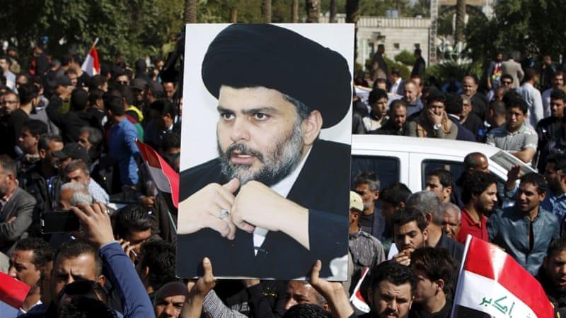Shia protester mot usa i irak