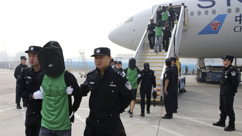 The 45 Taiwanese nationals are being investigated over wire fraud allegations [AP]