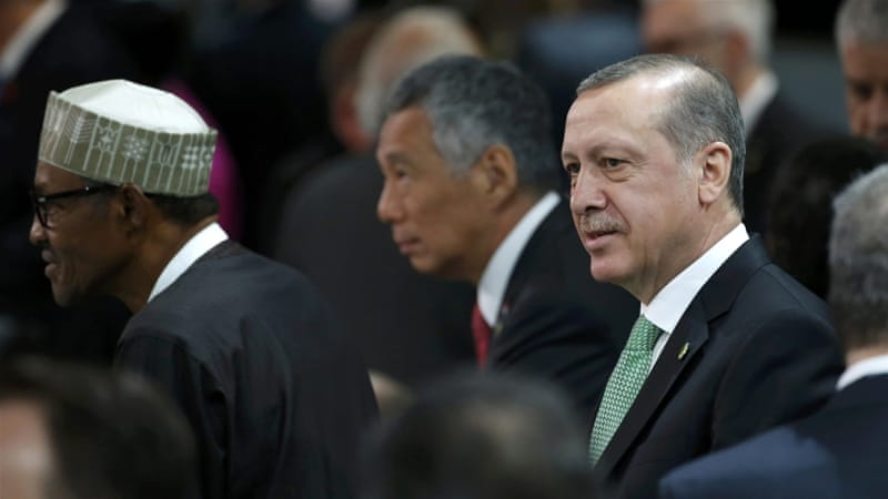 The Turkish leader was in the US to participate in a nuclear summit in Washington [Jonathan Ernst/Reuters]