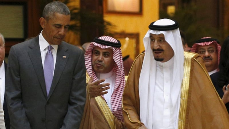 Obama came to Saudi Arabia hoping to allay Gulf states' fears over Iranian influence in the region [Reuters]