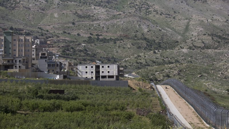 A view of the the Israeli-Syrian border in the occupied Golan Heights, near the village of Majdal Shams, Israel [EPA]