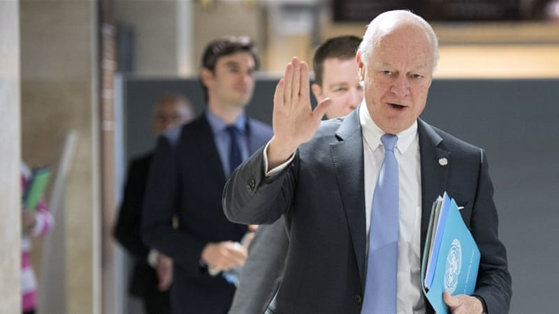 "UN Special Envoy, Staffan de Mistura, has called the talks a ""moment of truth"" for Syria [Reuters]"