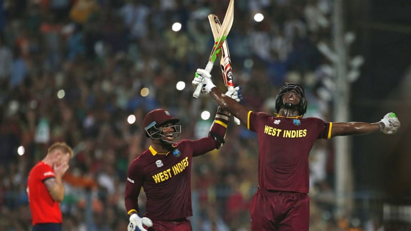 Brathwaite's heroics alongside Marlon Samuels saw West Indies win with two balls to spare [Adnan Abidi/Reuters]