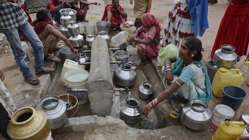 India's drought has killed hundreds and affected more than 300 million people [Ajit Solanki/AP]