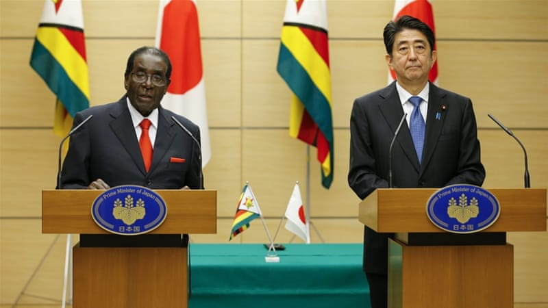 The hosting of Mugabe reveals the duelling pressures that face Japan as it looks to engage more states in Africa, writes Miller [EPA]