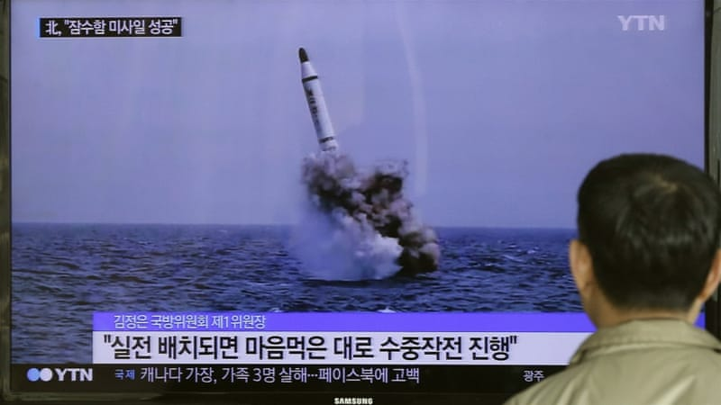North Korea reportedly launched a missile on the birthday of founder Kim Il-sung [File: Ahn Young-oon/AP]