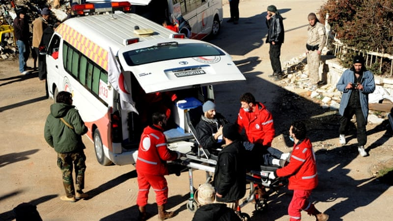 In Zabadani, the besieged town's only remaining medical doctor and a rescue member were killed by a sniper [AP]
