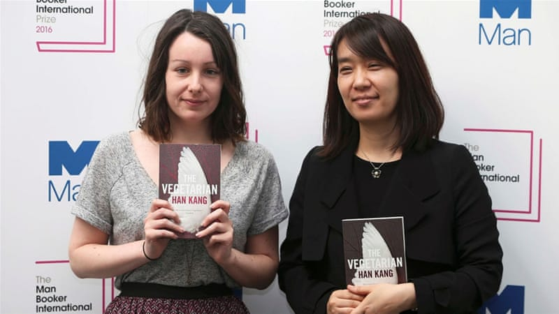 For the first time, the Man Booker International prize was split evenly between author and translator [Reuters]