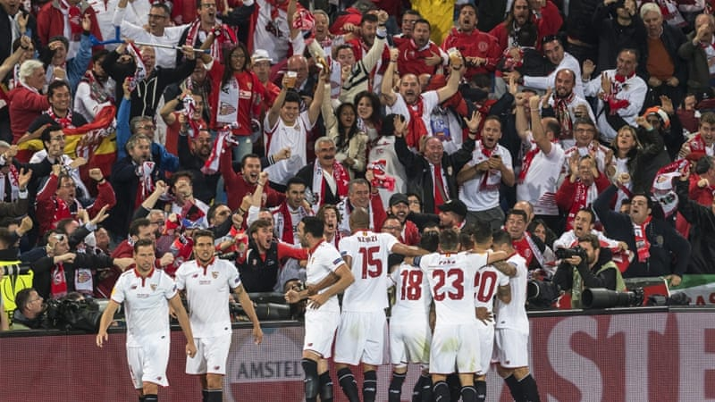 Sevilla have now won five Europa League titles [EPA]