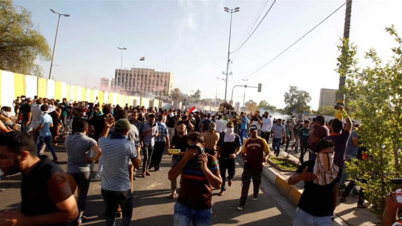 Sadr's supporters have been protesting for months to demand reforms and an end to corruption [Reuters]