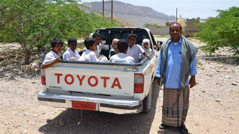 Among other projects, Baras has raised money to help transport children to school [Saeed Al Batati/Al Jazeera]