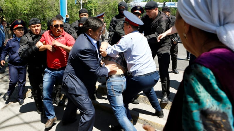 Dozens detained in Kazakhstan over land reform protests