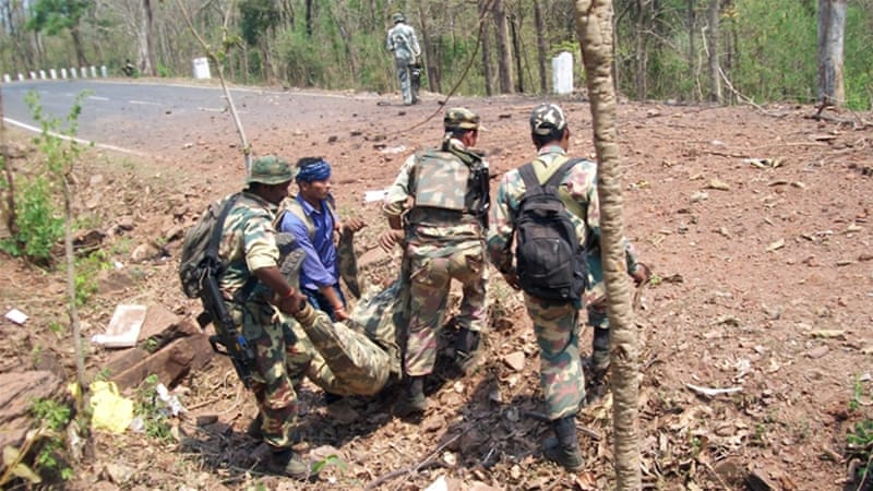 Many soldiers have been killed in attacks by Maoist rebels in the central Indian state of Chhattisgarh [STR/EPA]