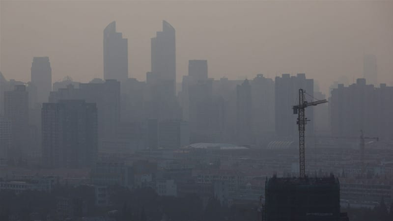 A view of a smoggy Shanghai, China, which has some of the world's most polluted air [Qilai Shen/EPA]