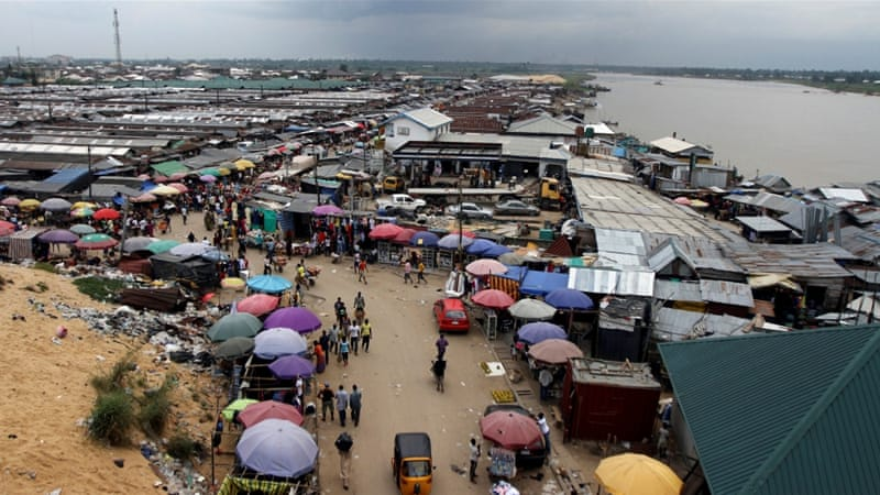 A view of the Swali market by the River Nun, in Yenagoa, the capital of Nigeria's oil state of Bayelsa [Akintunde Akinleye/Reuters]